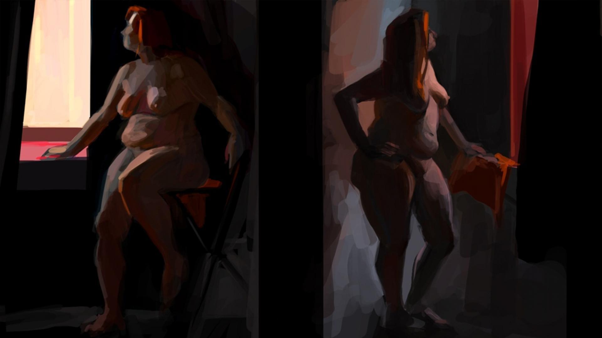 Работа студентки курса Цифровая живопись