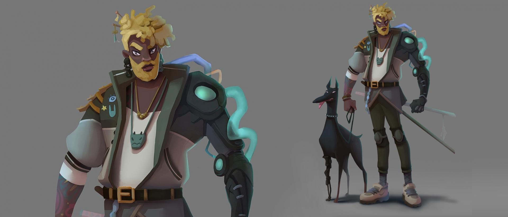 Работа студента интенсива концепт - арт персонажа