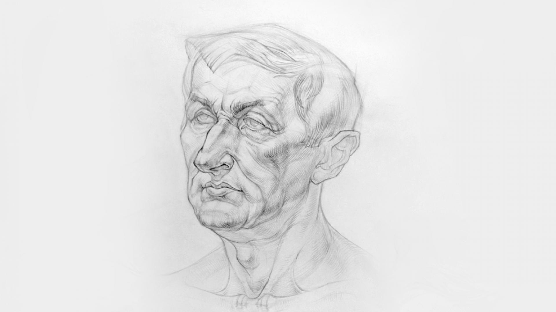 Работа куратора курса «Рисунок», Александра Исаева