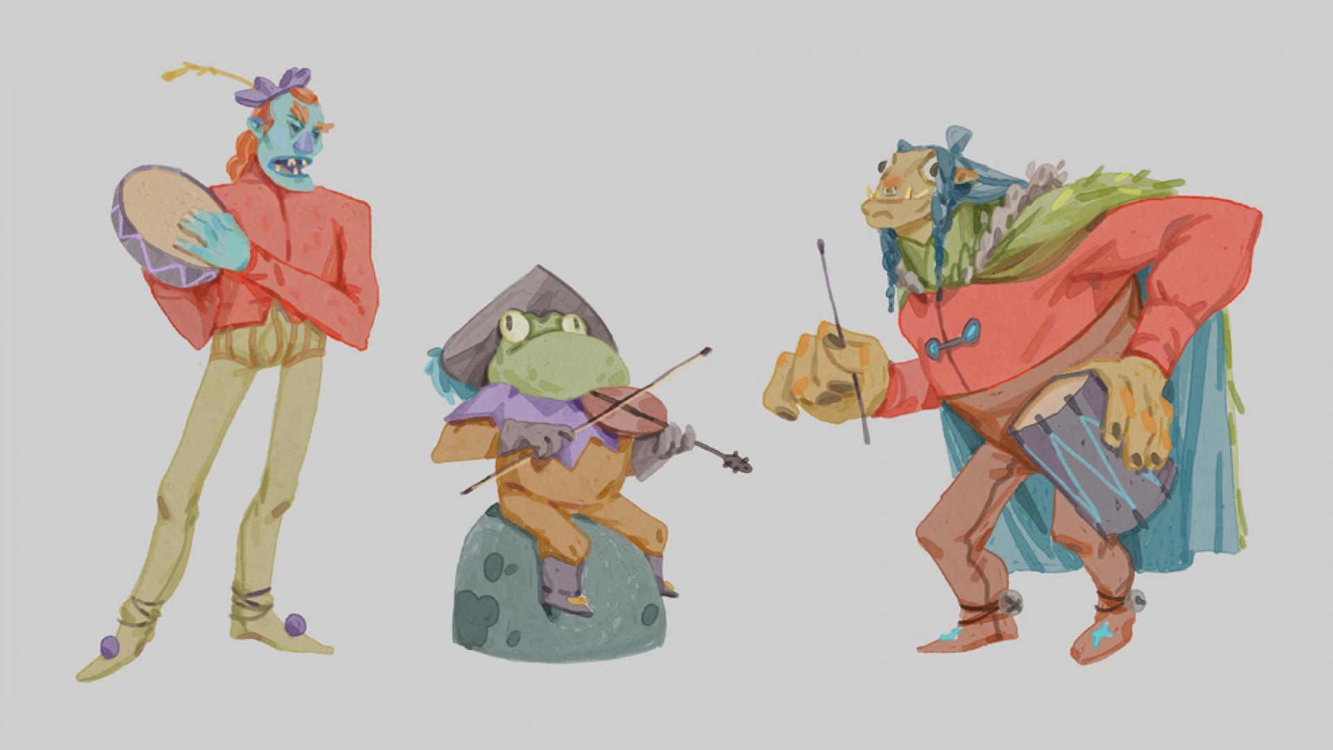 Работа куратора курса «2D Графика», Валерии Луговой.