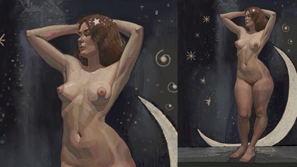 Работа куратора курса «Рисунок», Азата Нургалеева