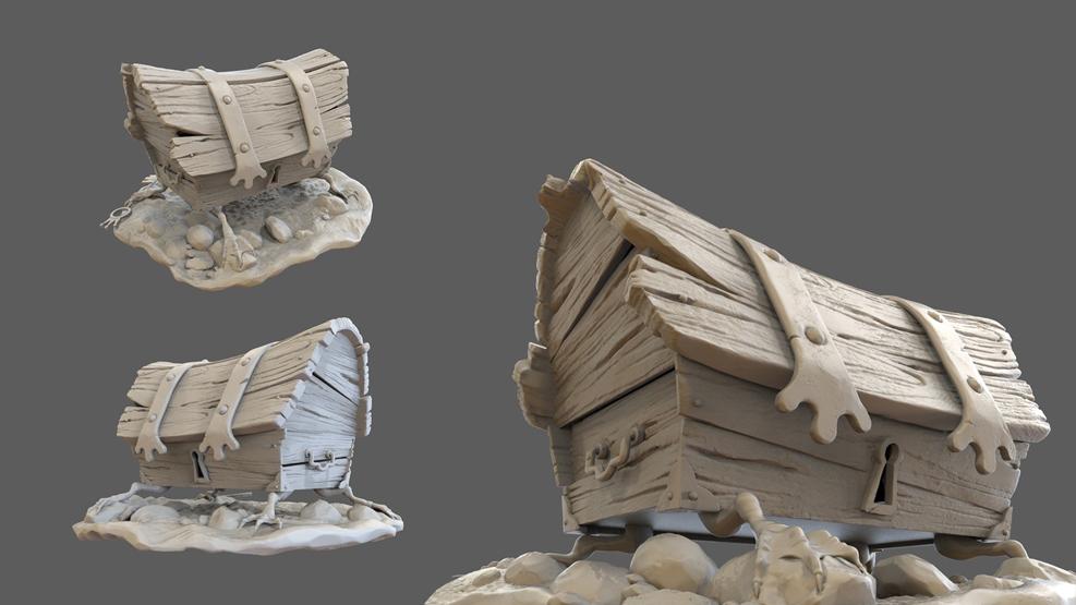 Работа студента курса 3D Графика