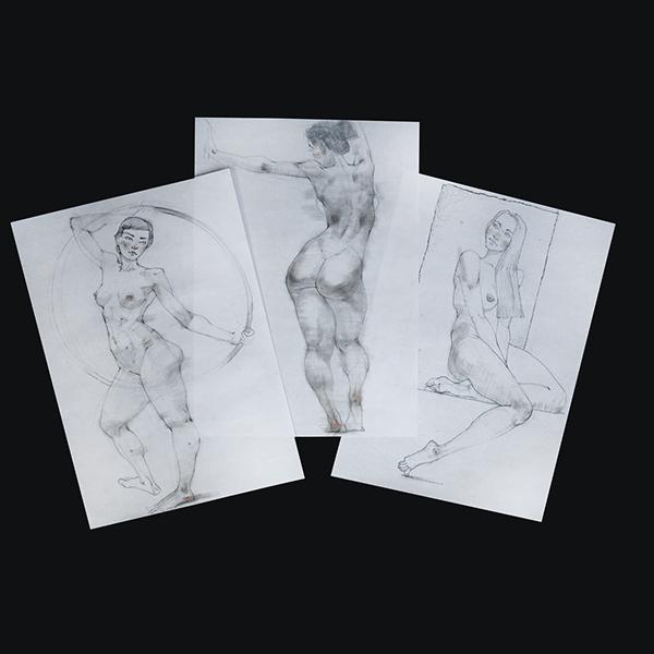 Азат Нургалеев. Пластика в женской фигуре. Наброски.