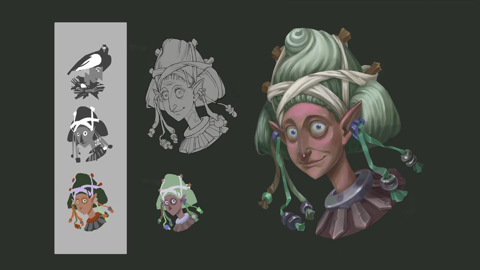 Работа студента интенсива Цифровой портрет персонажа