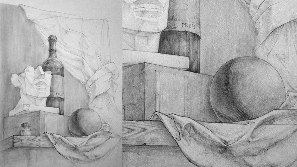 Работа куратора курса «Рисунок», Дианы Прядиевой