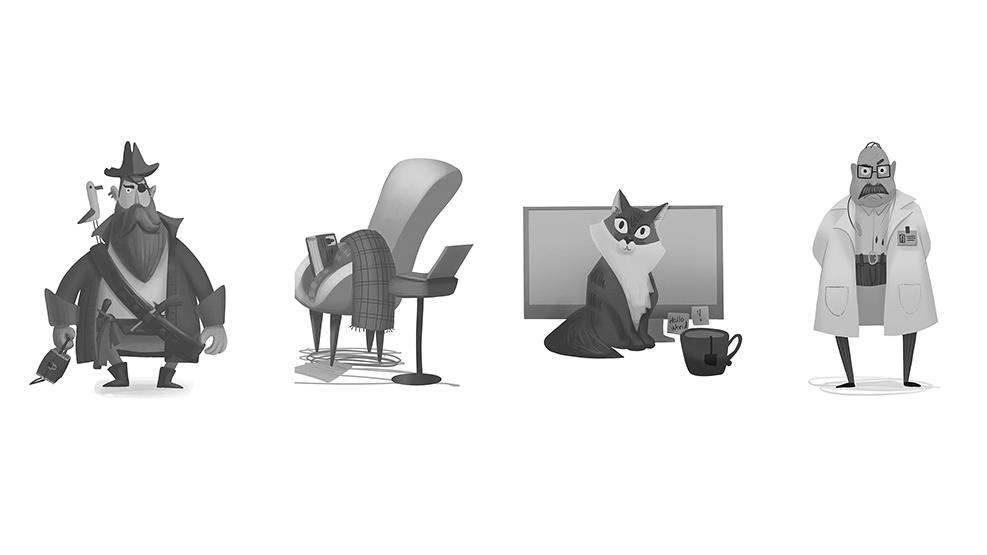 Работа куратора курса «2D графика», Юлии Хитровой