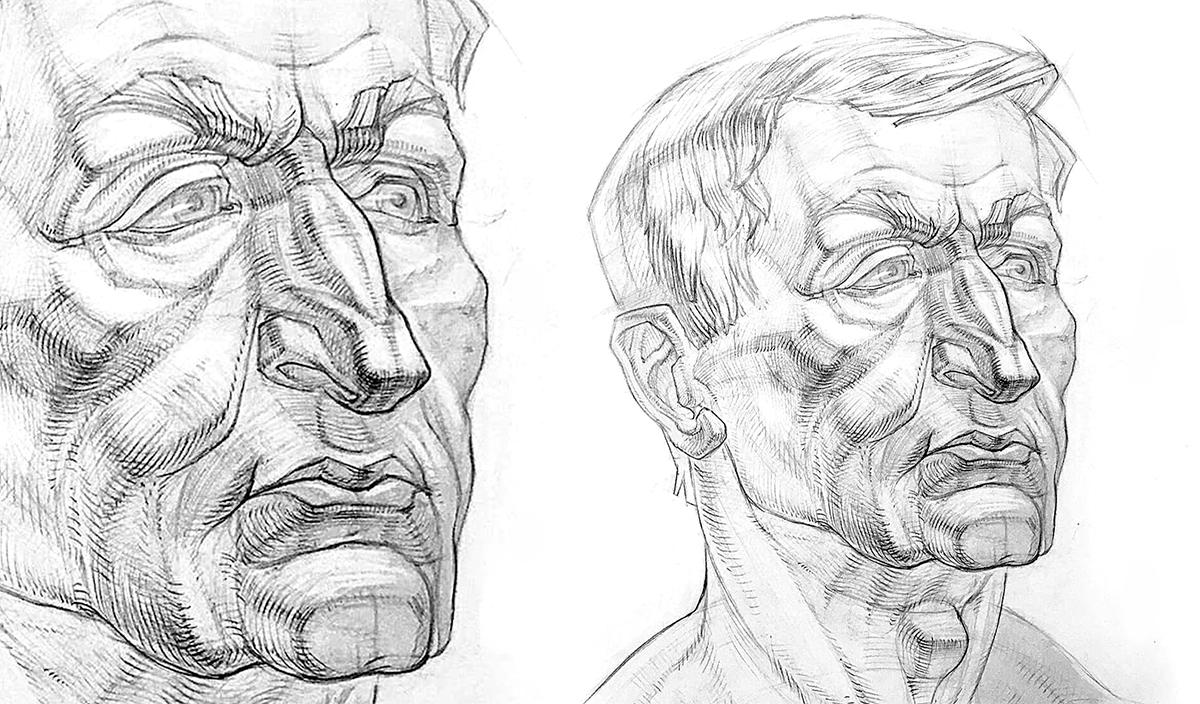 Работа куратора курса «Рисунок», Арсения Андрианова