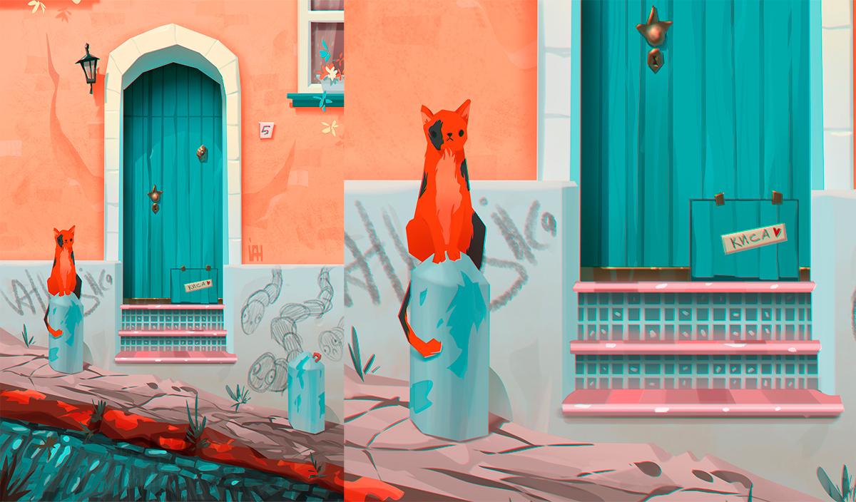 Работа куратора курса «2D графика», Валерии Заславской