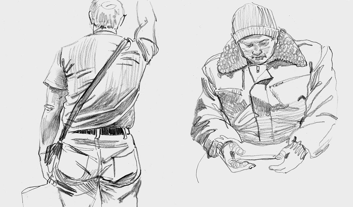 Работа куратора курса «Рисунок», Анастасии Бельской