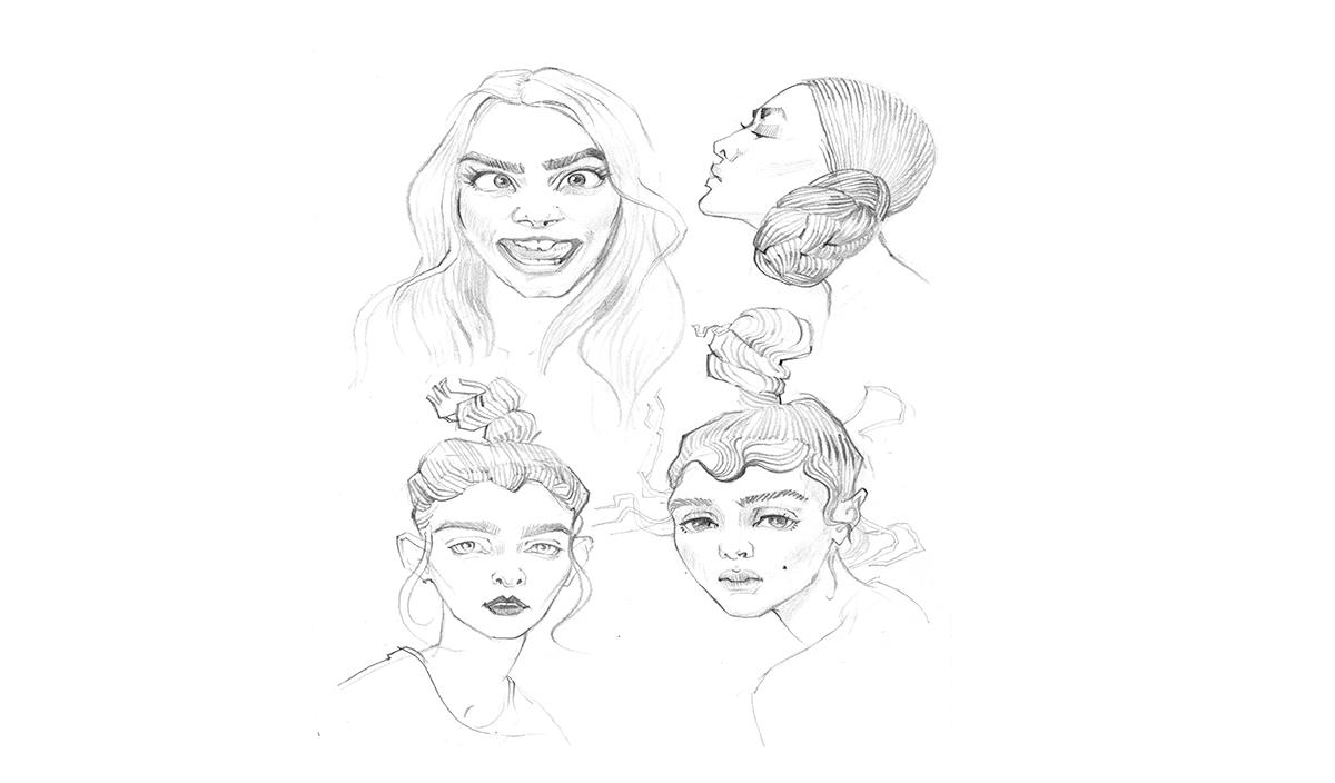 Работа куратора курса «Рисунок», Анны Пача