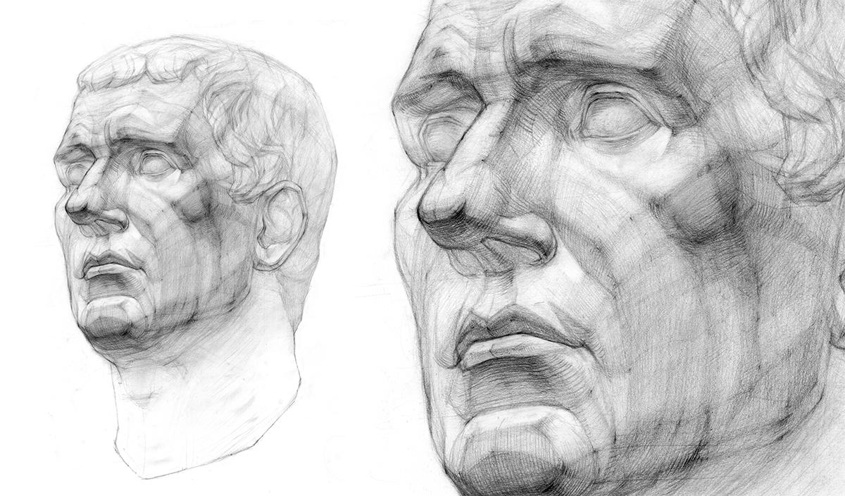 Работа куратора курса «Рисунок», Веры Березиной