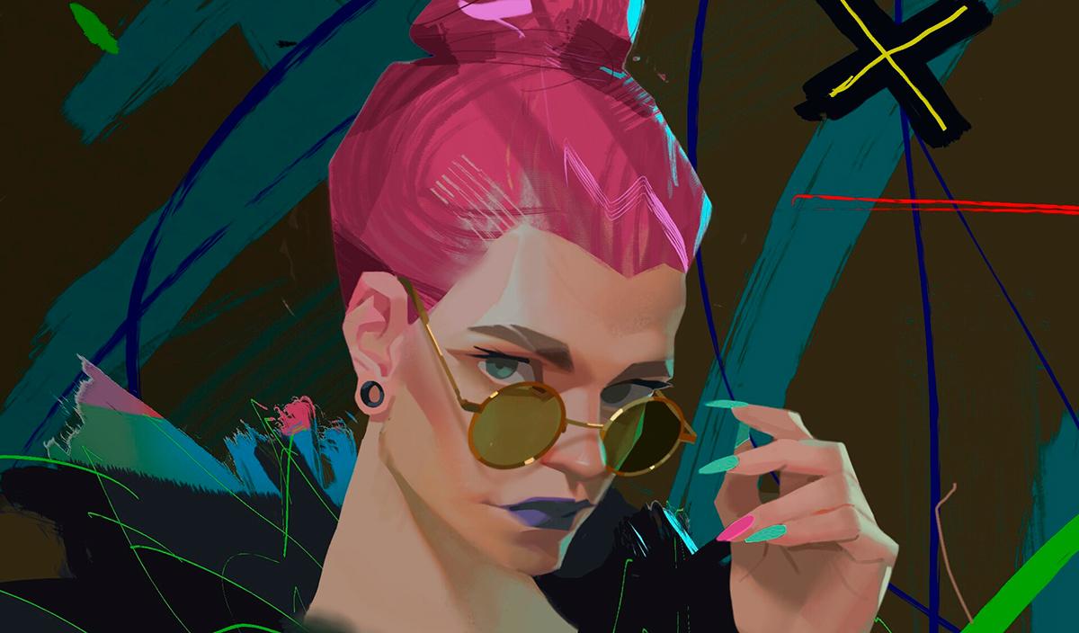 Работа куратора курса «2D Графика», Елизаветы Парфеновой