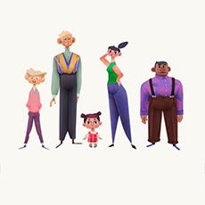 Дизайн персонажа ванимации